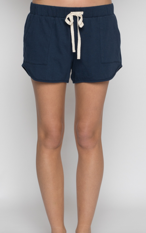 Luxe Organic Cotton Shorts Navy