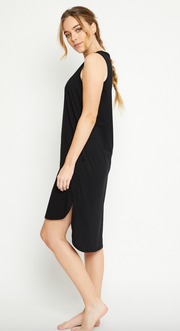 Olivia Dress, Organic Cotton Black