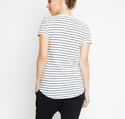 Basic Tee, Organic Cotton Black Stripe
