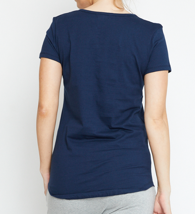 Basic Tee, Organic Cotton Navy