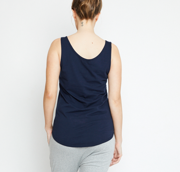 Singlet, Organic Cotton Navy