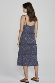 Jasmine Poolside Slip Midi Dress Navy