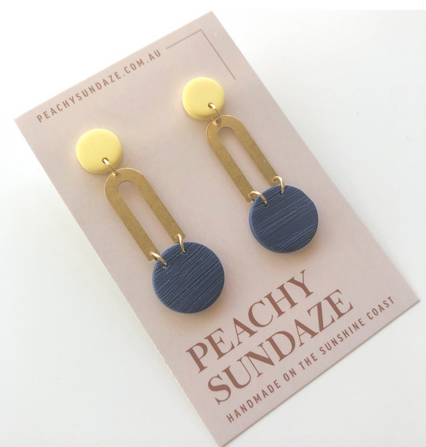 U Dangles - Navy & Yellow