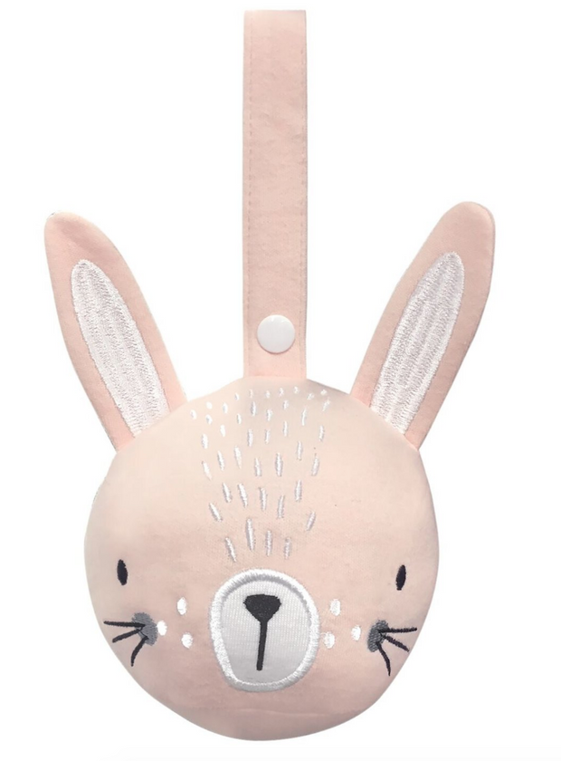 Pink Bunny Pram Rattle Ball