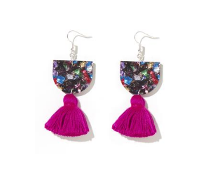 Annie Earrings Mixed Magenta