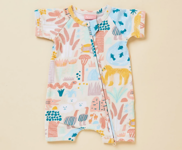 Sunset Kakadu Short Sleeve Zip Suit