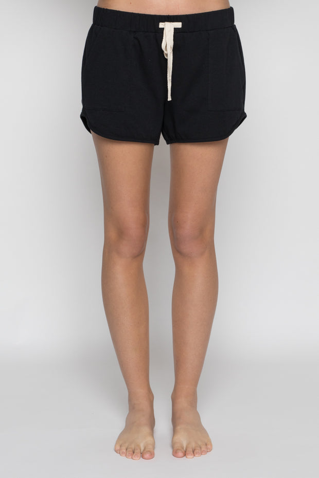 Luxe Organic Cotton Shorts Black
