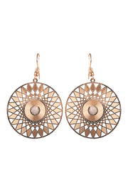 Zuma Earring Gold Disc