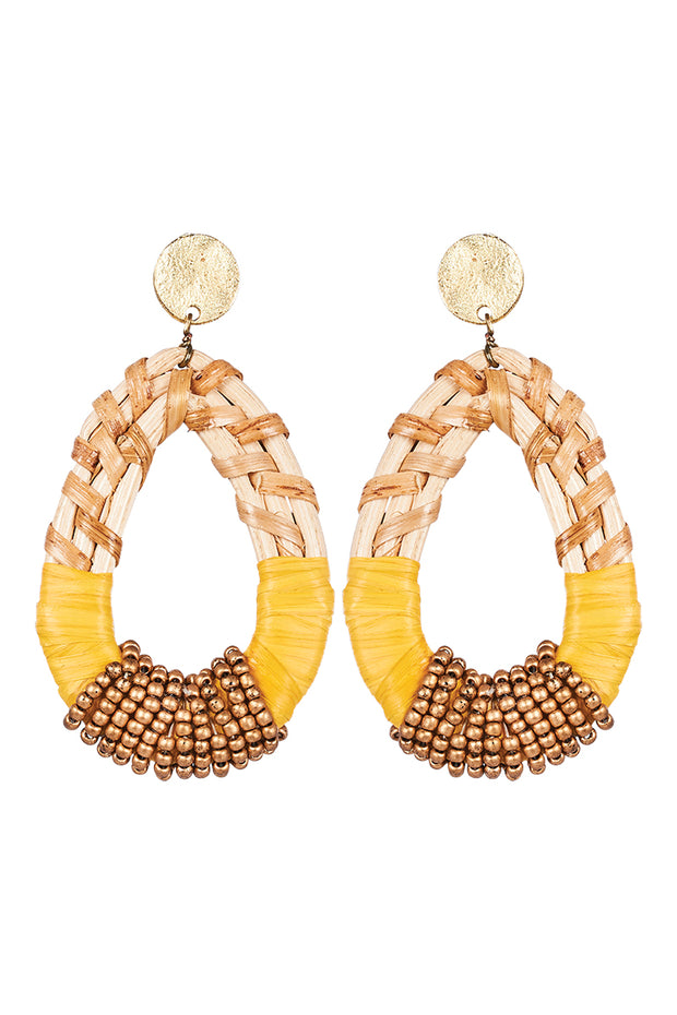 Savannah Teardrop Earring Saffron
