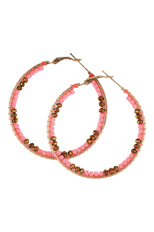 Panzi Beaded Hoop Neon