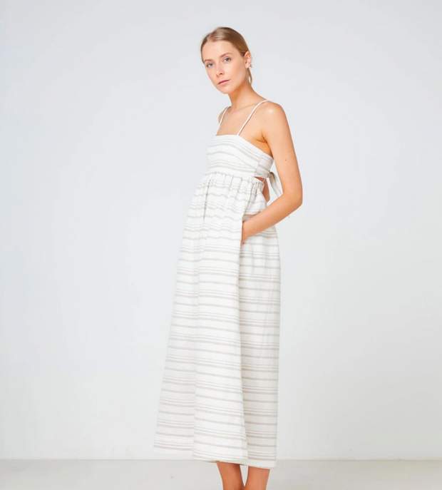 Tuscany Maxi Dress Natural Stripe