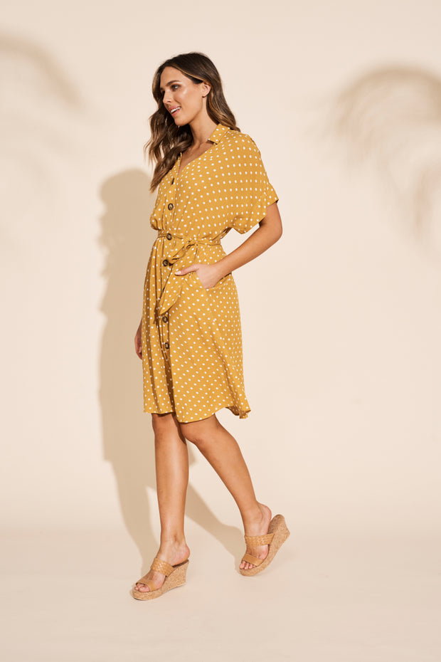 Zuma Shirt Dress Saffron