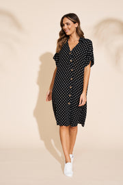 Zuma Shirt Dress Black