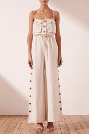 Aluaro Safari Drawstring Jumpsuit