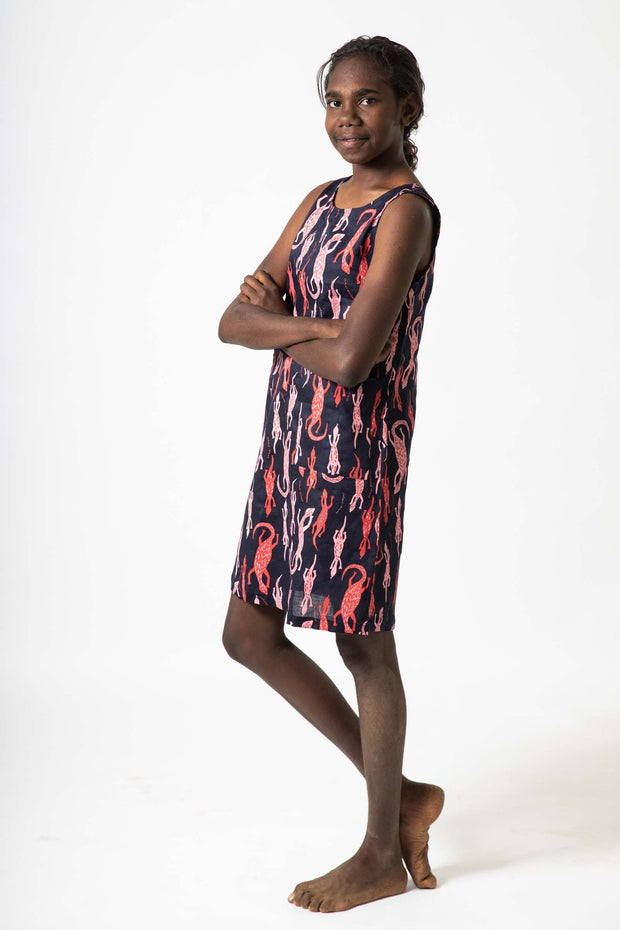 A-Line Dress Darbalun (Goannas)