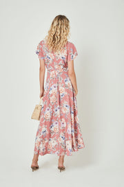 Pascal Muse Wrap Maxi Dress Rose