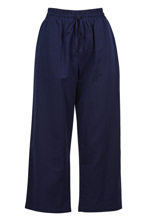 Paloma Crop Pant Navy Blue