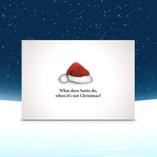 Load image into Gallery viewer, What does Santa do when it's not Christmas? book