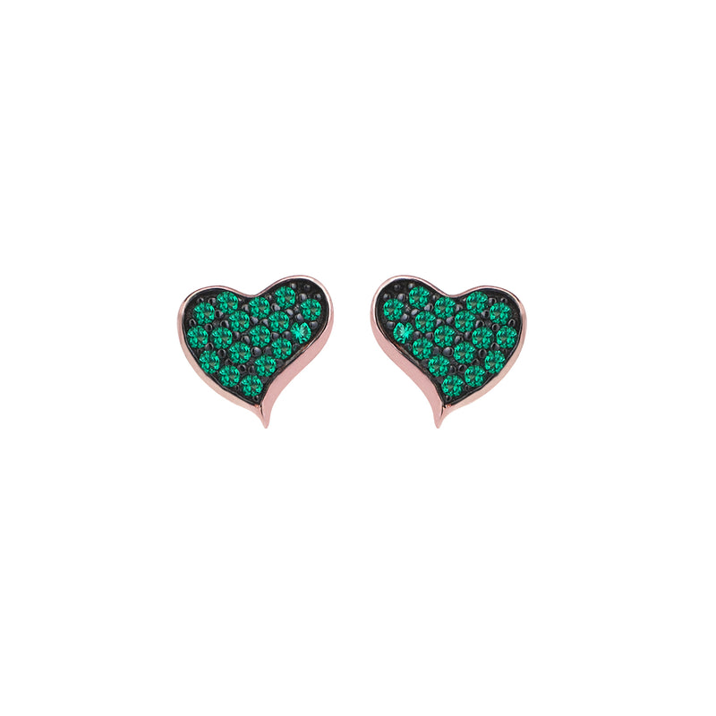 HEART WAVE STUDS
