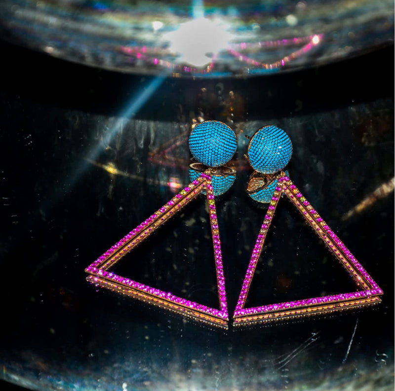 RETRO WAVE EARRINGS