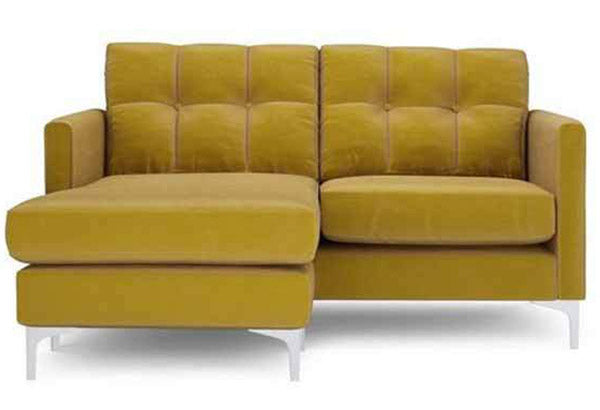 Small sectional sofa. Velvet sectional DFS