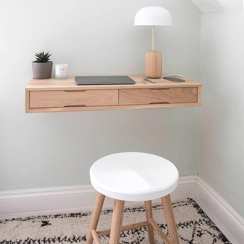 Small floating desk, multi-tasking desks