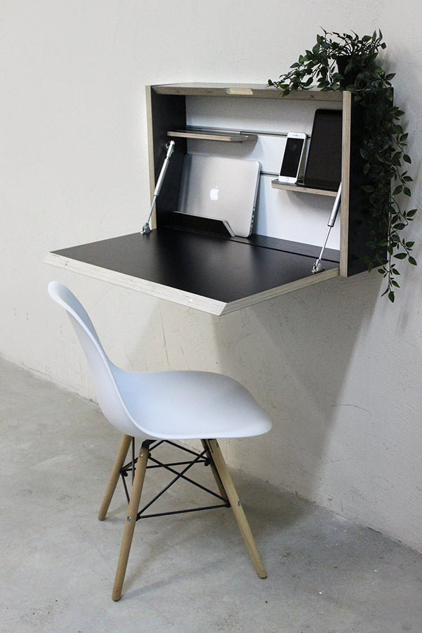 Wall mounted folding desk