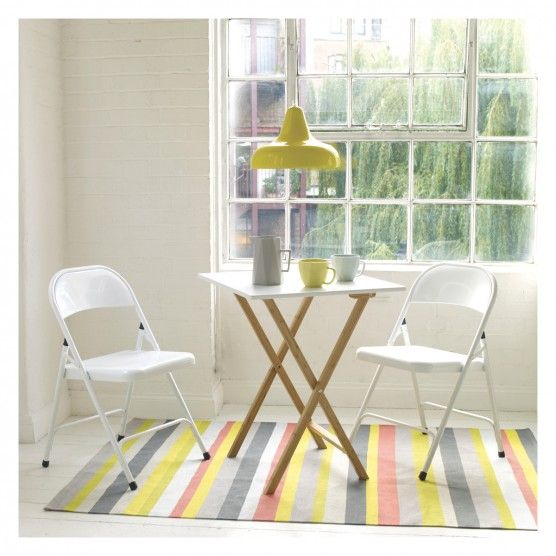 Small two seater folding dining table