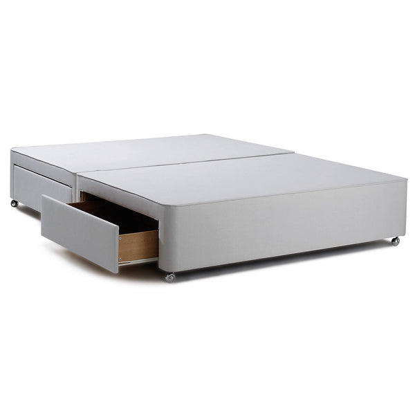 Divan Storage Bed, Stone Grey, Small Double