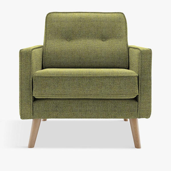 g plan green armchair
