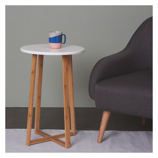Tall bamboo lacquer side table