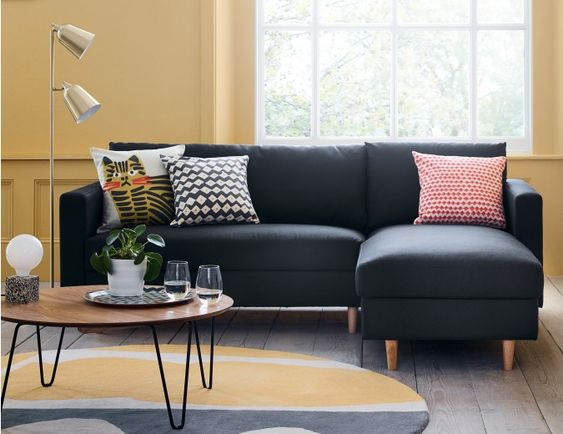 NAYA Left-Arm 3 Seater Chaise Sofa