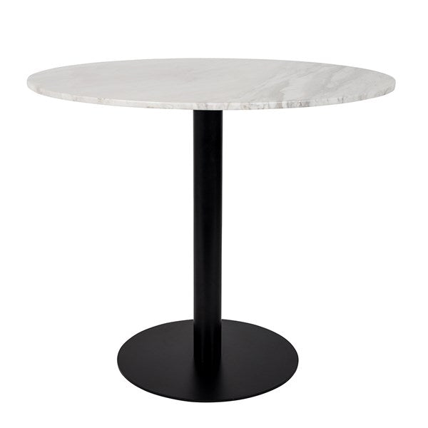 Zuiver Marble King Round Dining Table with Matte Black Leg