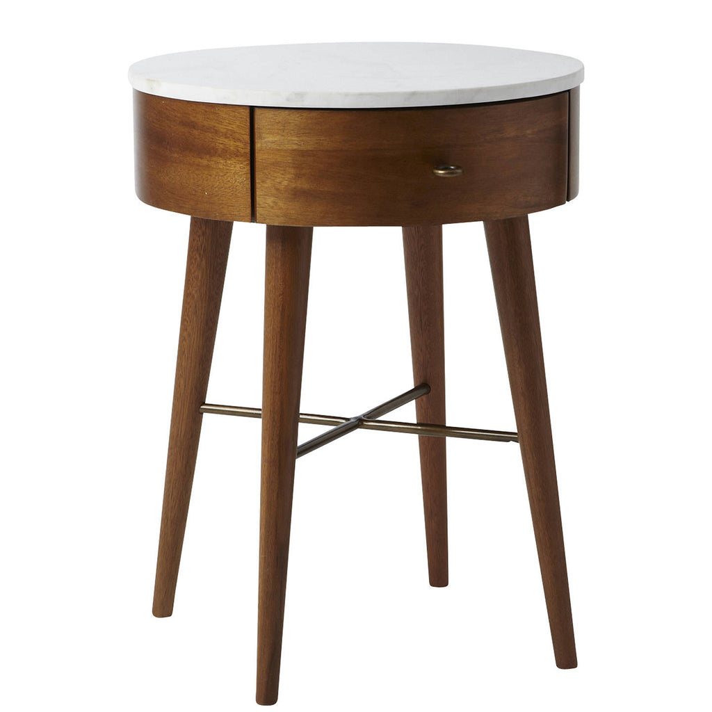 Penelope Bedside Table, Acorn