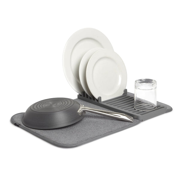 UDRY MINI Dish Drying Rack & Microfiber Dish Mat