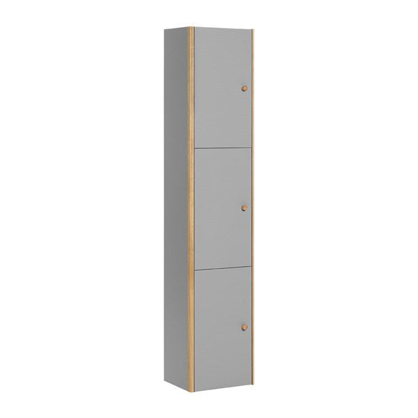 Vox Nature Tall Wall Cabinet in Grey & Oak Effect