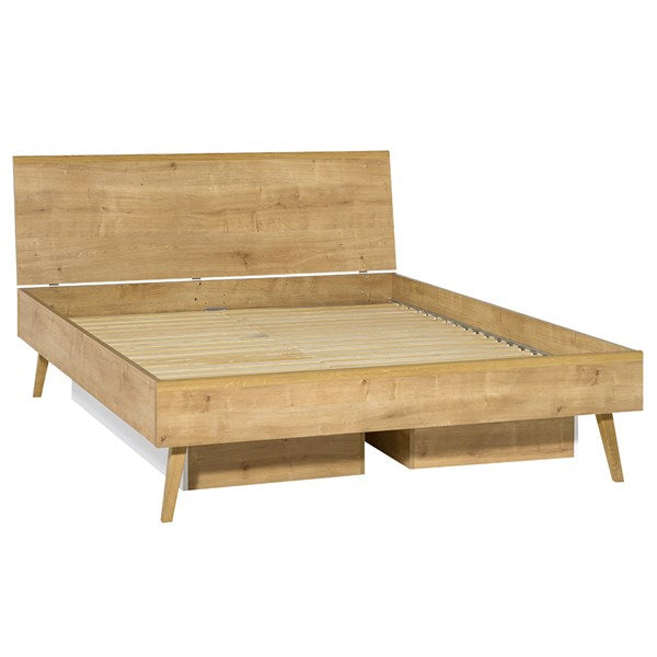 Vox Nature Bed with Solid Headboard