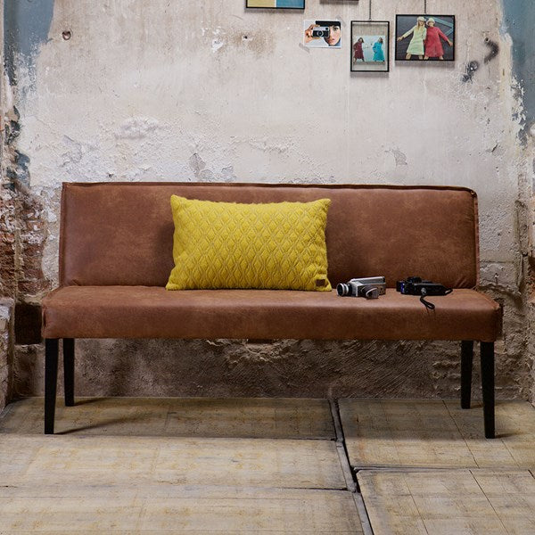 Rodeo Leather Dining Bench