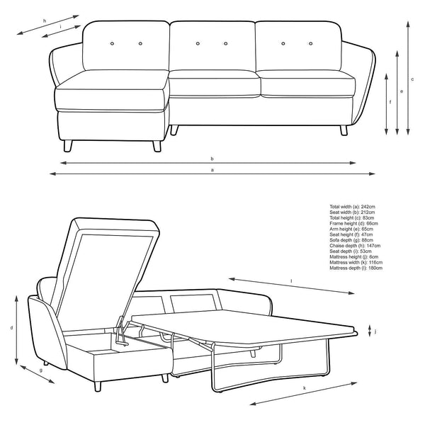 Sectional Sofa bed and storage