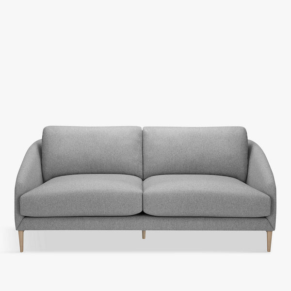 Cape Medium 2 Seater Sofa, Light Leg, Mole Grey