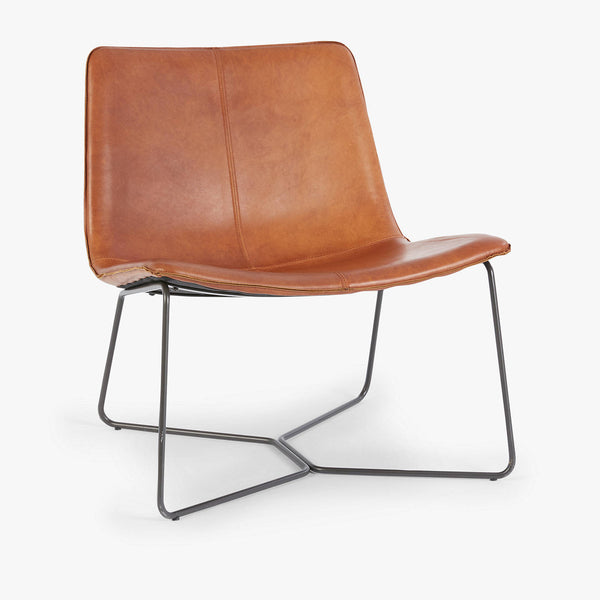 Slope Lounge Chair, Saddle Leather