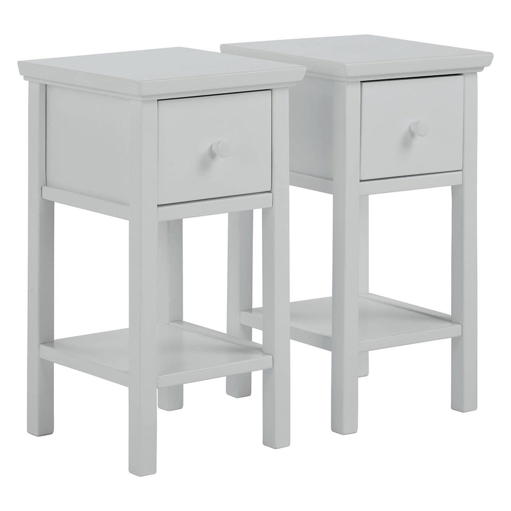 small grey bedside tables