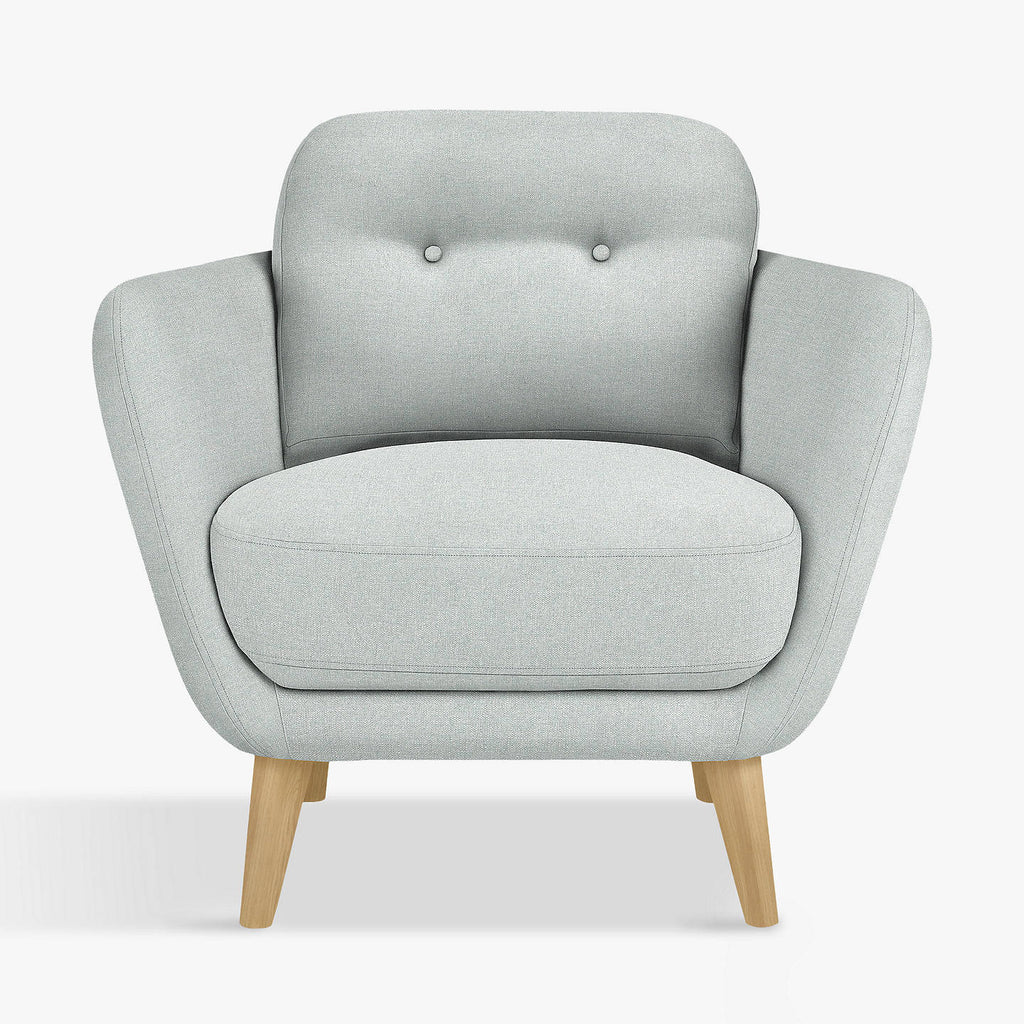 small grey armchair