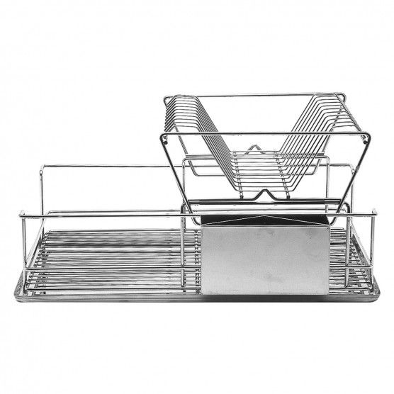 Space saving stainless steel drying rack