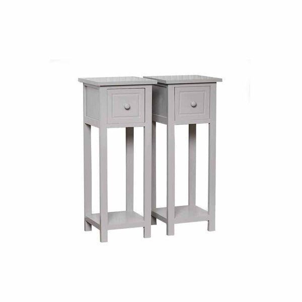 Pair of Tall Narrow Bedside Tables
