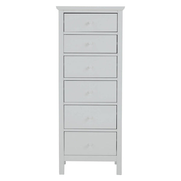 Grey tall boy chest of drawers