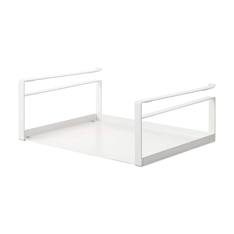 YAMAZAKI home Plate Under Shelf Storage Rack, White