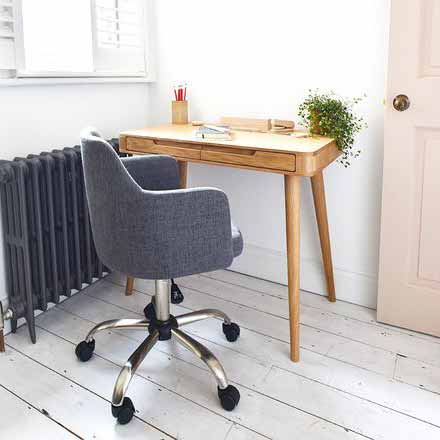 Rotary Upholstered Desk Chair