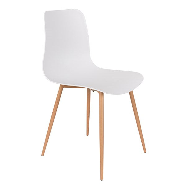 Pair of Leon Dining Chairs in White