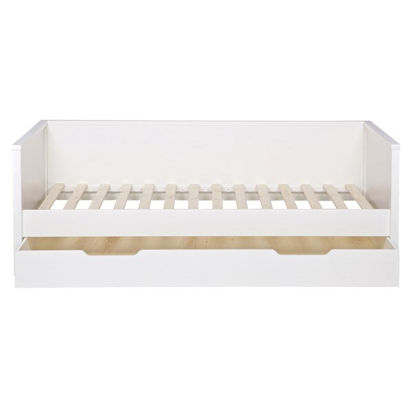 Nikki Day Bed in White with Optional Trundle Drawer by Woood